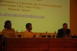 23/10. Luis Filipe Silvério Lima, Henrique Parra e Karim Gherab Martín, Sessão de Detbates. Foto: Jorge Viana.