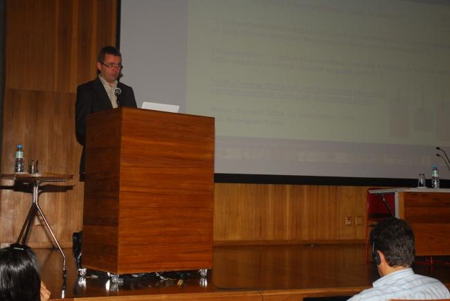 24/10. Paul Spence, Conferência. Foto: Jorge Viana.