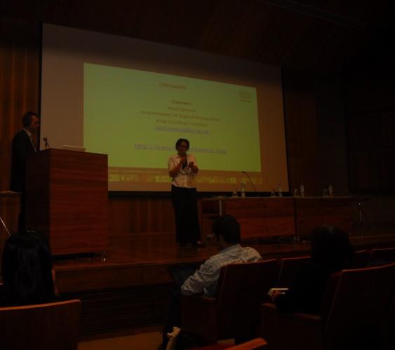 24/10. Paul Spence, Conferência (debates). Foto: Jorge Viana.