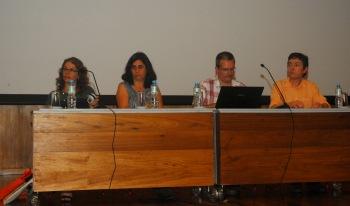 24/10. Íris Kantor, Ermelinda Pataca, Daniel Alves, Mesa dos Historiadores. Foto: Jorge Viana.