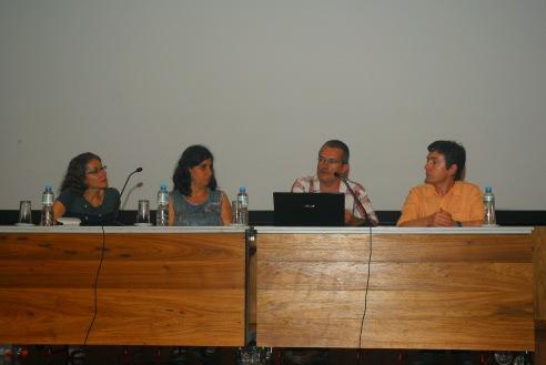 24/10. Íris Kantor, Ermelinda Pataca, Daniel Alves, Luis Ferla, Mesa dos Historiadores. Foto: Jorge Viana.