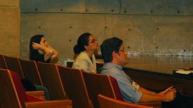25/10. Joyce Mattos, Maria Clara Paixão de Sousa, Patrício Nunes Barreiros, Sessão de Projetos. Foto: Jorge Viana.