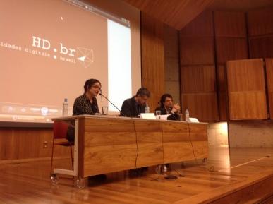 23/10. Maria Clara Paixão de Sousa, Pedro Puntoni e José Murilo Jr., Mesa de Abertura. Foto: Dália Guerreiro.
